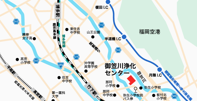 御笠川浄化センター 地図