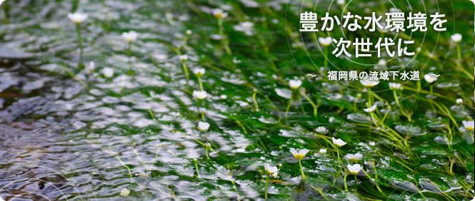 豊かな水環境を次世代に〜福岡県の流域下水道〜 清流